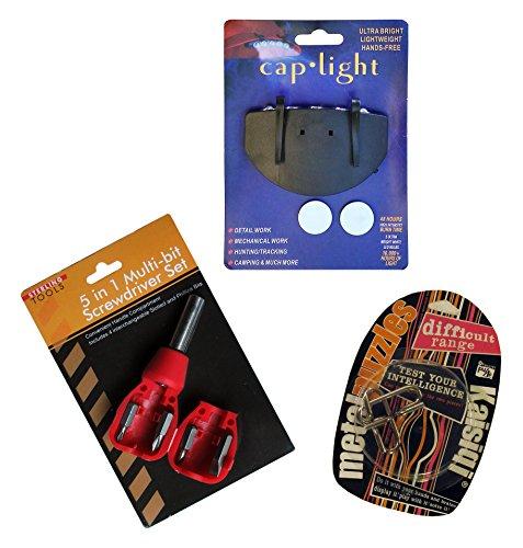 Holiday Stocking StuffersGift Set Cap LightPocket Screwdriver Set and Puzzle