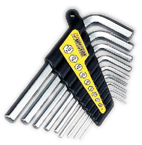 Tsunoda 9-size set of Short Hex Key Wrench 152253456810 Short