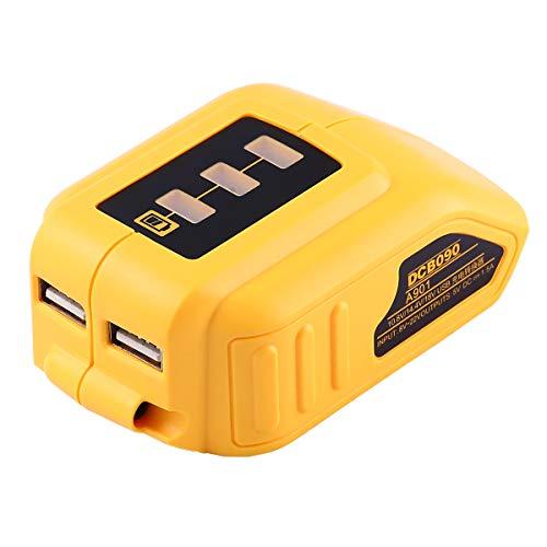 Forrat USB Charger DCB090 DCB200 12V20V Max USB Power Source for DEWALT Converters Adapter XR MAX 108v 12v 144V 18V 20V Lithium Battery