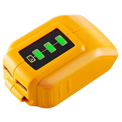 TenHutt 12V20V Max USB Power Source Replacement for Dewalt DCB090 Converters for Lithium Battery