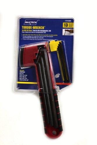 Maxtech 17015MX SAE Hex Key Torque Handle Set 13-pc
