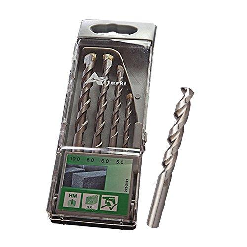 Masonry Drill Bit Arterki 222-2101 The Bit for Drilling Stone and Brick 4-Piece Silver