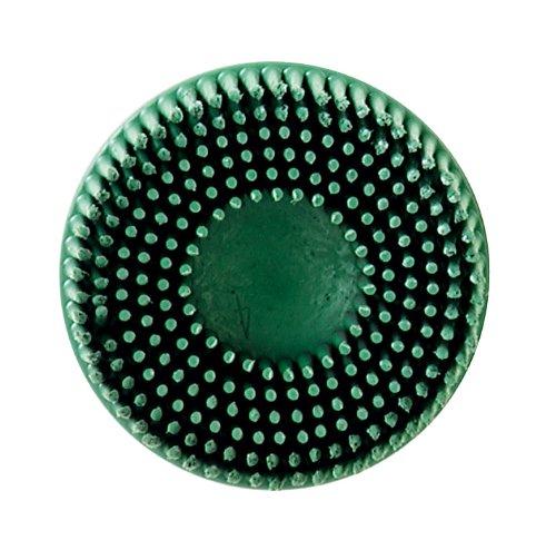 Scotch-BriteTM RolocTM Bristle Disc Roloc Quick-Change Attachment Ceramic Aluminum Oxide 2 Diameter 58 Tapered 50 CRS Grit Green  Pack of 40
