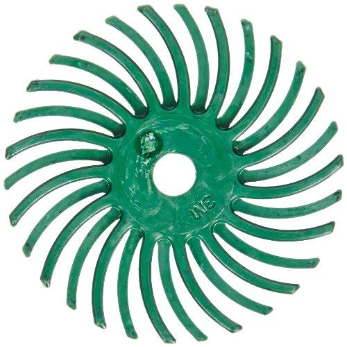 Scotch-BriteTM Radial Bristle Disc 35000 rpm 1 Diameter 50 Grit Green Pack of 24