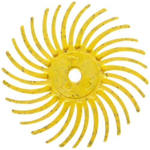 Scotch-BriteTM Radial Bristle Disc Ceramic 35000 rpm 34 Diameter 80 Grit Yellow Pack of 48