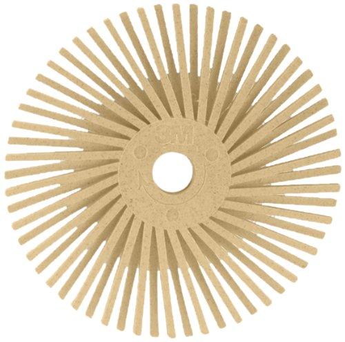 Scotch-BriteTM Radial Bristle Disc Thin Bristle Ceramic 30000 rpm 2 Diameter 6 Micron Grit Peach Pack of 40