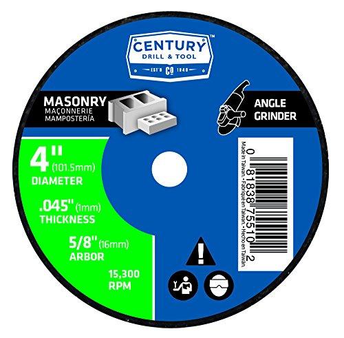 Century Drill Tool 75510 Type 1 Masonry Cutting Wheel 4 X 116
