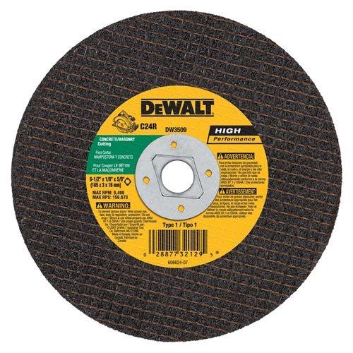 DEWALT DW3509 6-12-Inch x 18-Inch x 58-Inch Diamond Drive Masonry Cutting Wheel 25-Pack