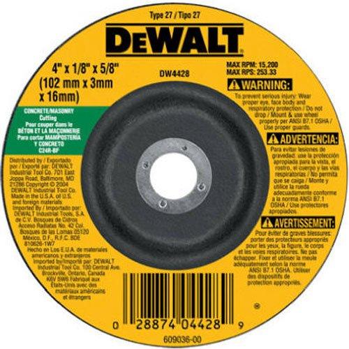 DEWALT DW4428 4-Inch by 18-Inch by 58-Inch ConcreteMasonry Cutting Wheel