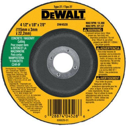 DEWALT DW4528 4-12-Inch by 18-Inch by 78-Inch ConcreteMasonry Cutting Wheel