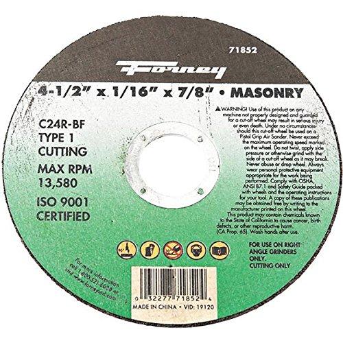 Forney Masonry Cutting Wheel 4-12 X116 X78