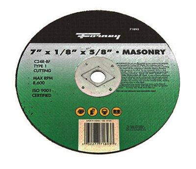 Forney Masonry Cutting Wheel 7 X18 X58