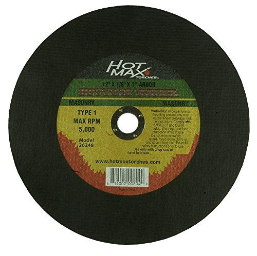 Hot Max 26248 12-Inch x 18-Inch x 1-Inch Chop Saw Masonry Cutting Wheel