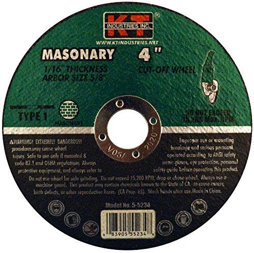 K-T Industries 5-5234 Masonry Cutting Wheel 4 x 116 x 58