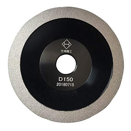 Brazed Diamond Grinding Wheel Cutter Grinder Tool Diamond Coated Flat Wheel Grit 100 Black 6 inch150mm