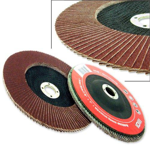 30 Angle Grinder Flap Discs 4-1 2 Flat 80 Grit Light Grinding