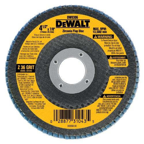 DEWALT DW8318 5-Inch by 78-Inch 80-grit Zirconia Flap Disc