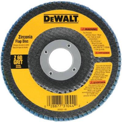 Dewalt Accessories DW8302 4-Inch 60-Grit Zirconia Flap Disc - Quantity 10