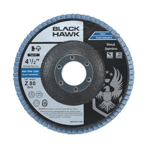 10 Pack 4-12 x 78 Black Hawk Zirconia Grinding Sanding Flap Discs T27 80 Grit