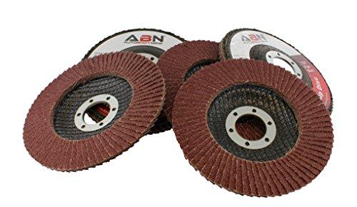 ABN 45 x 78 T27 80 Grit Aluminum Oxide Flat Flap Disc Grinding Sanding Sandpaper Wheels 5 Pack