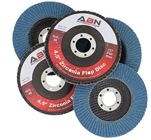 ABN 45 x 78 T27 80 Grit High Density Zirconia Alumina Flat Flap Disc Grinding Sanding Sandpaper Wheels 5 Pack