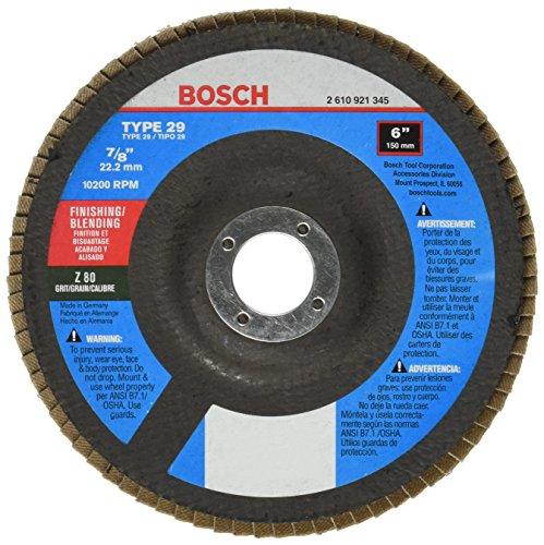 Bosch FD2960080 Type 29 80-Grit Flap Disc 6-Inch 78-Inch Arbor