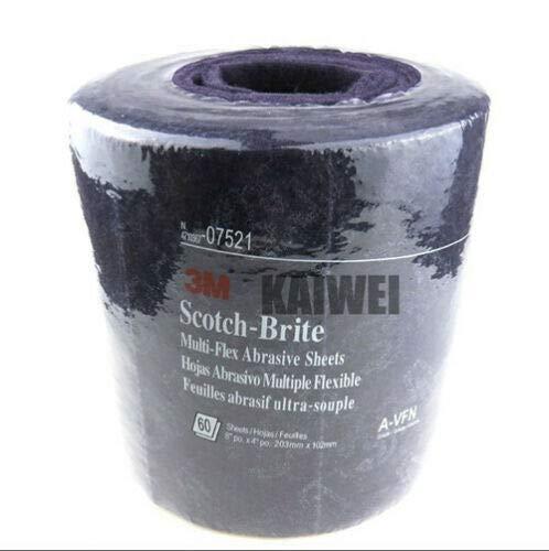 WALLER PAA 1 Roll60sheets 3M 07521 Scotch-Brite Multi-Flex Abrasive Sheet 4 x 8