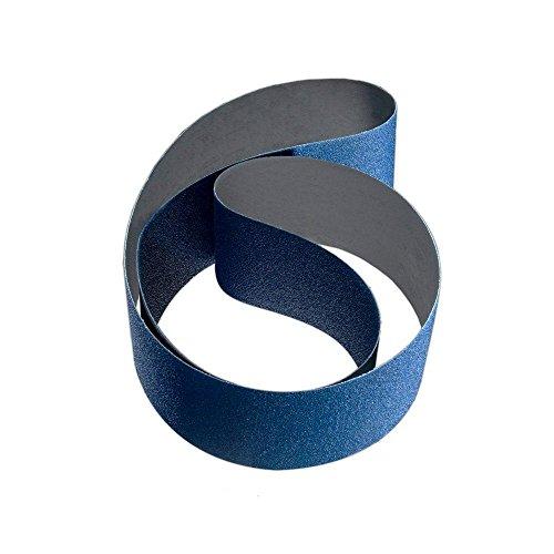 2 in x 72 in 36 Grit Zirconia and Aluminum Oxide Cloth Sanding Belt 10-Pack
