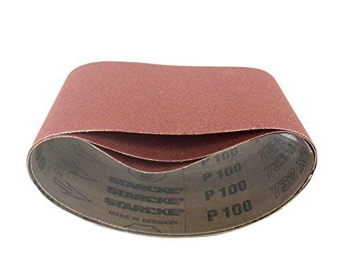 3-12 X 15-12 Sanding Belts Aluminum Oxide Cloth Narrow 9 Pack 36 Grit