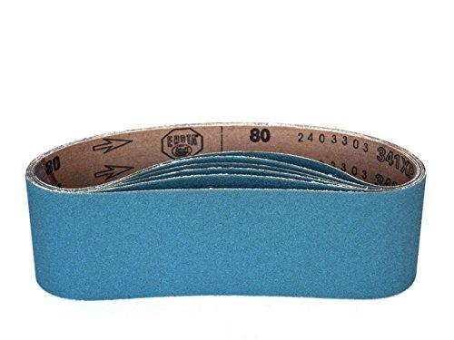 3 X 21 Inch Sanding Belts Zirconia Cloth Narrow Sander Belts 8 Pack 40 Grit