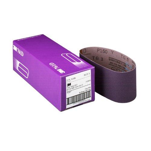 3M 81399 3-Inch by 21-Inch Purple Regalite Resin Bond 50 Grit Cloth Sanding Belt Pack of 5
