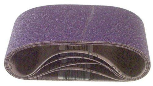 3M 81413 3-Inch by 24-Inch Purple Regalite Resin Bond 100 Grit Cloth Sanding Belt - 5 Pack