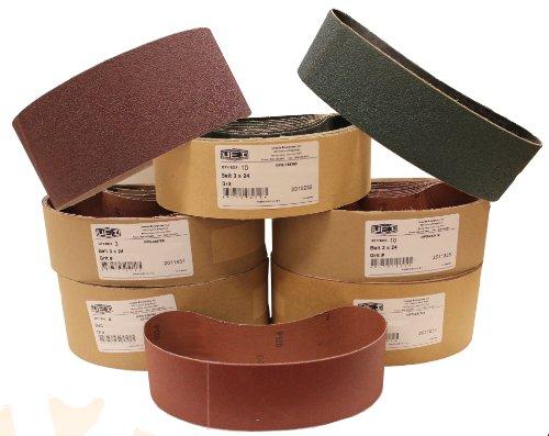 Uneeda Enterprizes Inc M-107210 M-107210 3-Inch x 21-Inch No 36 Grit Aluminum Oxide Cloth Sanding Belt