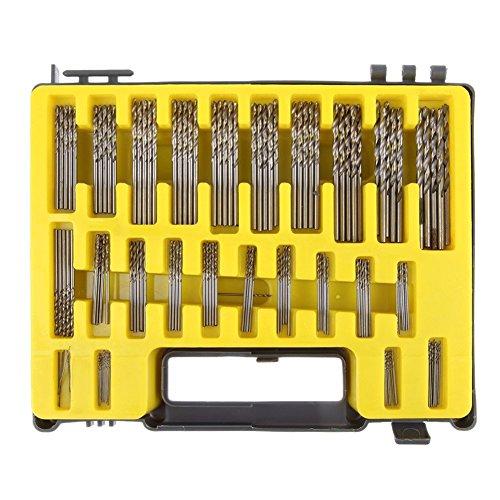 Awakingdemi 150-piece Mini Twist Drill Bit Kit HSS Micro Precision Twist Drill 24 Sizes 04-32mm