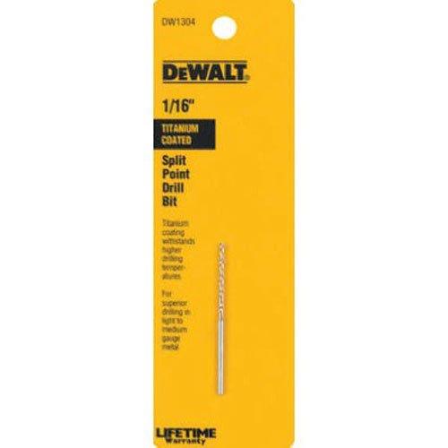 DEWALT DW1304 116-Inch Titanium Split Point Twist Drill Bit