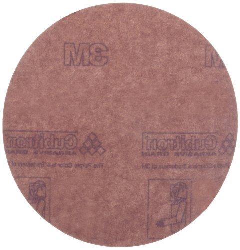 3M Hookit Paper Disc 735U Hook and Loop Attachment Ceramic Aluminum Oxide 5 Diameter P180 Grit Pack of 50