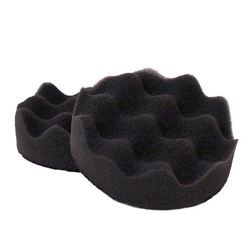 3M Perfect-it Hookit Foam Polishing Pad 05726 3 Diameter Black Pack of 10