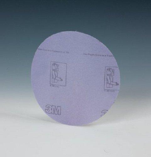 3MTM HookitTM Film Disc 360L Hook and Loop Attachment Aluminum Oxide 3 Diameter P220 Grit Purple  Pack of 50