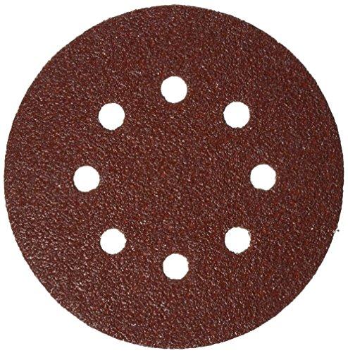 Bosch SR5R040 5-Inch Hook Loop Sanding Disc 8-Hole Red 40 Grit 5 Pack