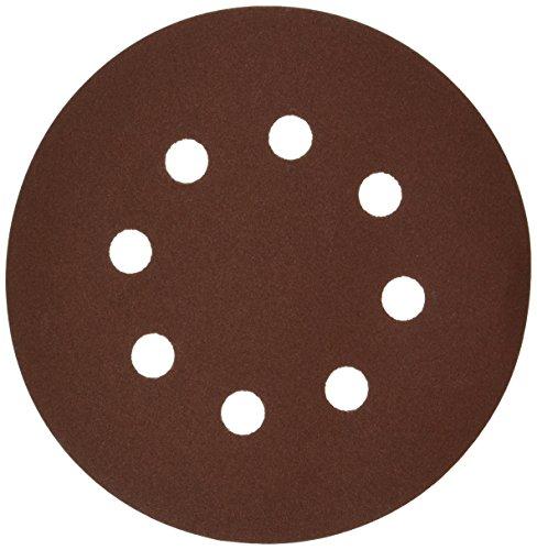 Bosch SR5R245 5 Hook Loop Sanding Disc 8-Hole Red 240 Grit 50 Pack