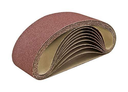 4 X 36 320 Grit Aluminum Oxide Sanding Belts 10 Pack