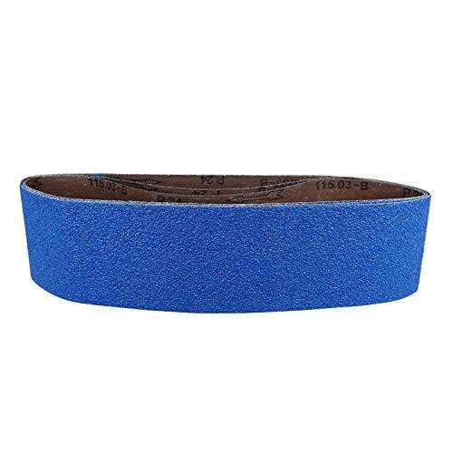POWERTEC 443606Z-3 4 x 36 Sanding Belts 60 Grit Zirconia Metal Grinding Sand Paper - 3 Pack