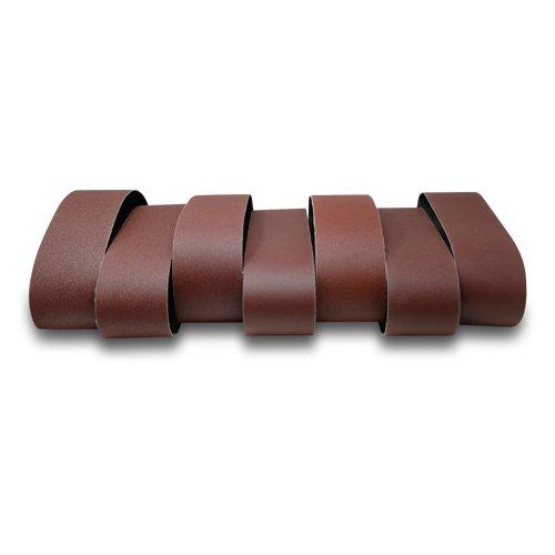 Red Label Abrasives 4 X 36 Inch Aluminum Oxide Sanding Belts - 60 80 100 120 150 180 220 Grits - 7 Pack Assortment