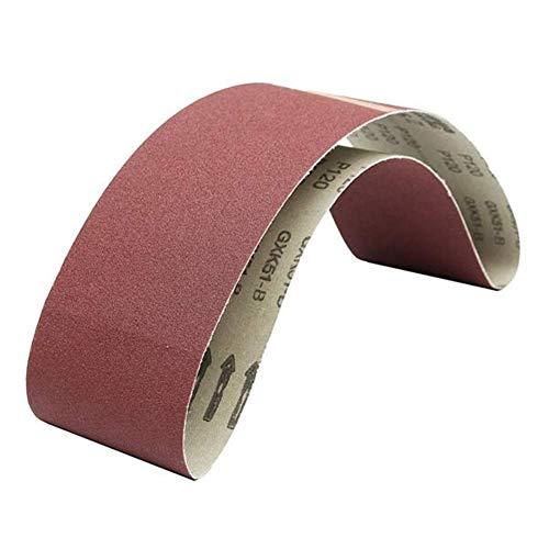 ZXY-NAN 6Pcs 4x36 Inch Sanding Belts Aluminium Oxide 80120180220320400 Grits Abrasive Sanding Belts Grinding and Polishing