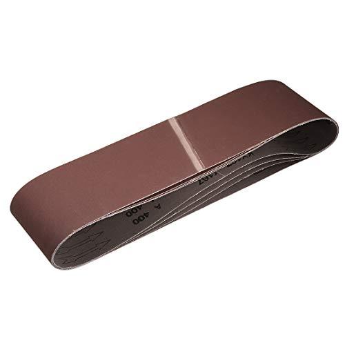 uxcell 4-inch x 36-inch 400-Grits Sanding Belt Aluminum Oxide Sand Belts for Belt Sander 4pcs