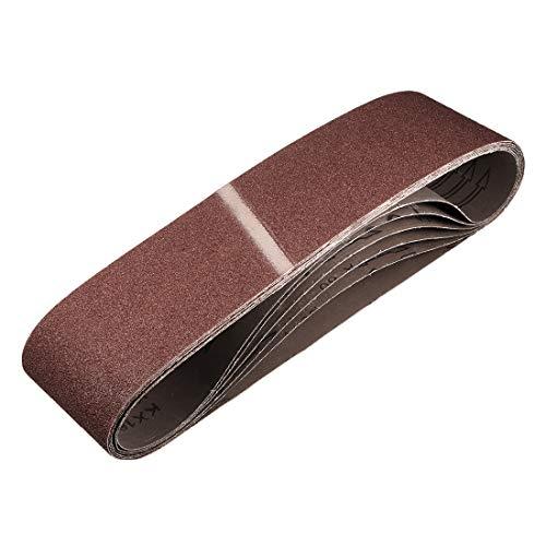 uxcell 4-inch x 36-inch 60-Grits Sanding Belt Aluminum Oxide Sand Belts for Belt Sander 6pcs