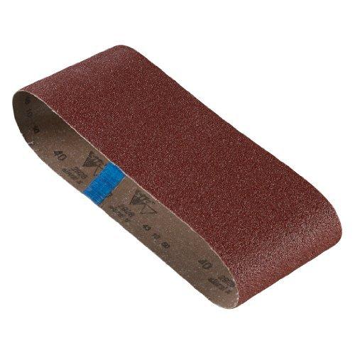 Bosch SB6R040 4-Inch X 24-Inch Sanding Belt Red 40 Grit 3-Pack by BOSCH