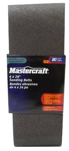 Mastercraft-2-PACK- Sanding Belts 4 x 24-in80 Grit Coarse