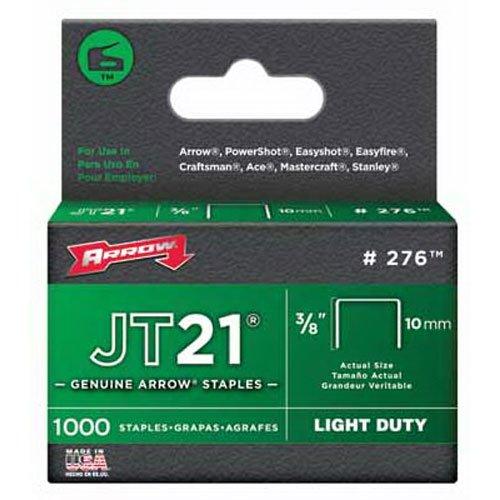 Arrow Fastener 276 Genuine JT21T27 38-Inch Staples 1000-Pack
