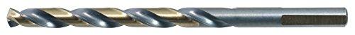 Drillco Drill bit 14 Jobber Drills 3-Flats High Speed Steel Black Bronze 140° Point 12 Pack